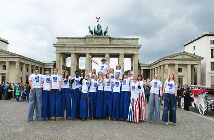 Korbacher Highwalkers beim Championsleague-Finale der Frauen in Berlin