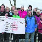Korbacher Lauftreff spendet 1000€ für Kinderkrebshilfe