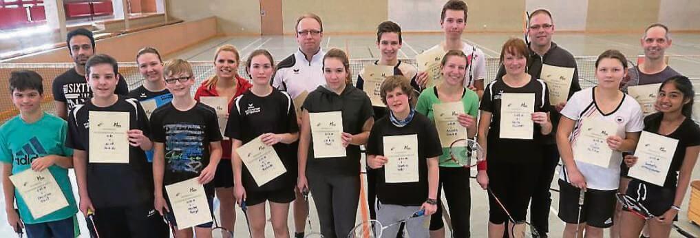 Gruppenfoto Stadtmeisterschaften im Badminton 2017