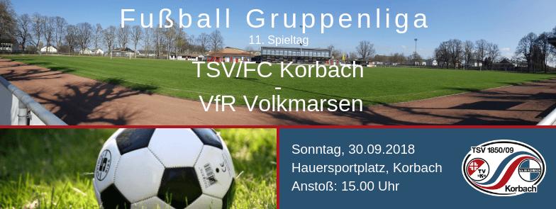 Fußball Gruppenliga Kassel: Korbach - Volkmarsen