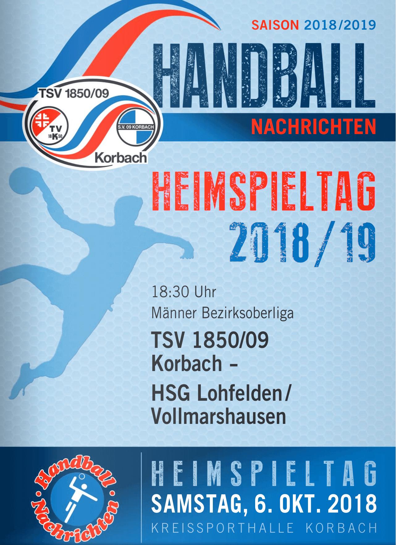 Hallenzeitung (Handball) vom 06.10.2018