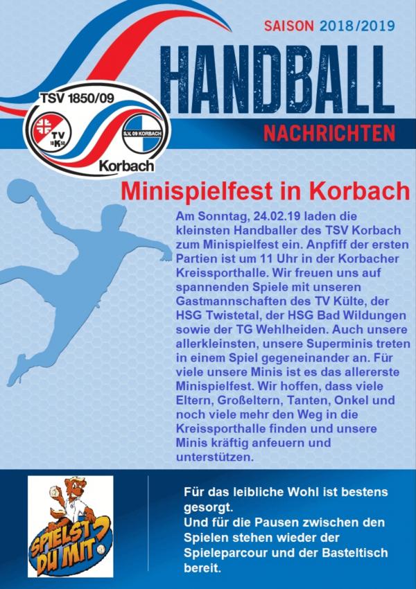 Handball Bezirksoberliga Spitzenspiel TSV Korbach - TG Wehlheiden
