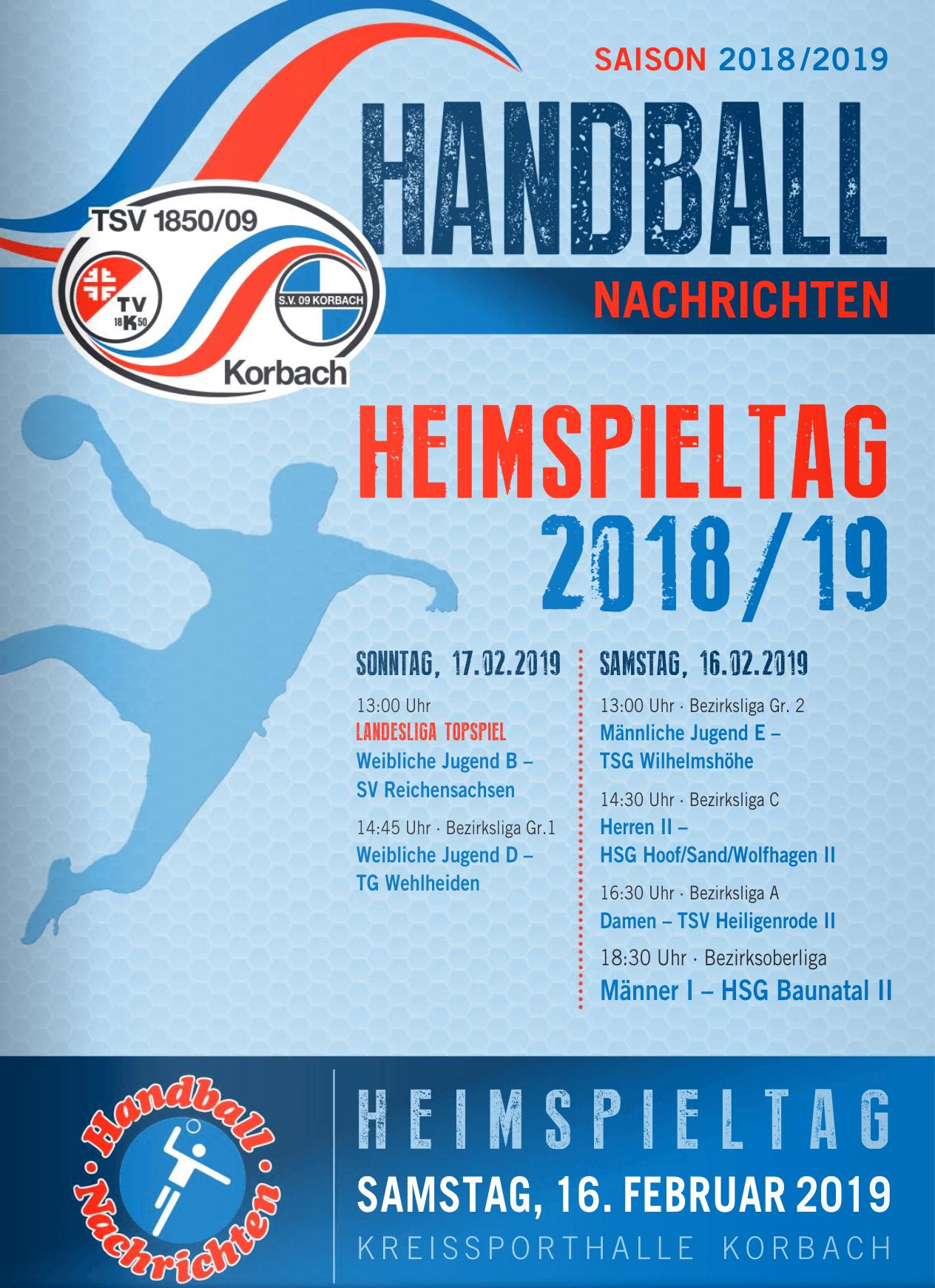 Heimspielwochenende der Handball-Abteilung