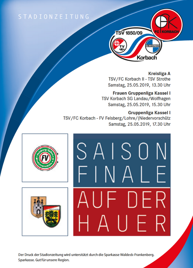 Stadionzeitung zum Saisonfinale 2019