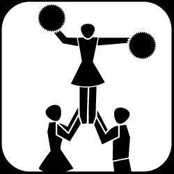 Piktogramm Cheerleading
