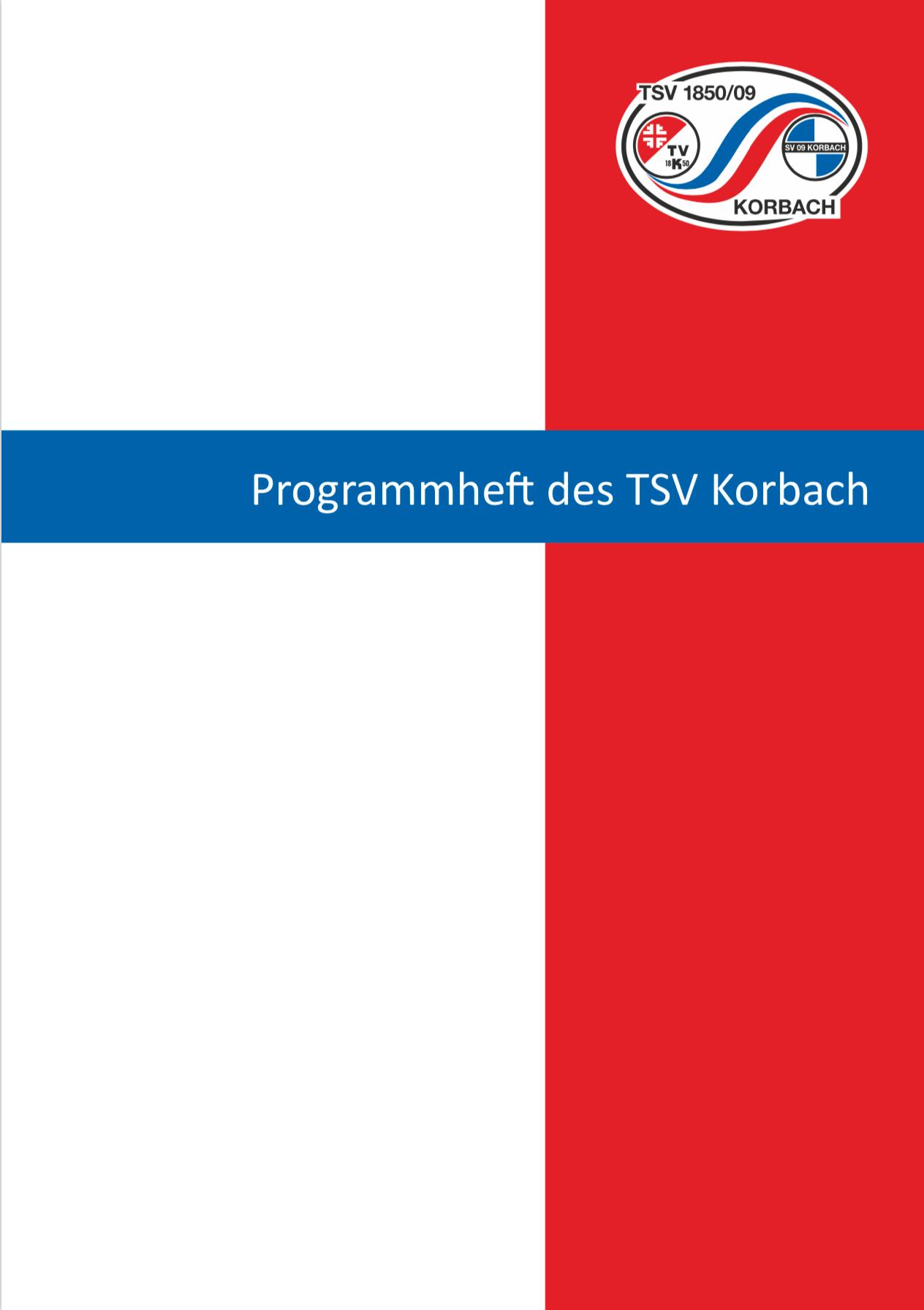 Programmheft des TSV 1850/009 Korbach e.V.