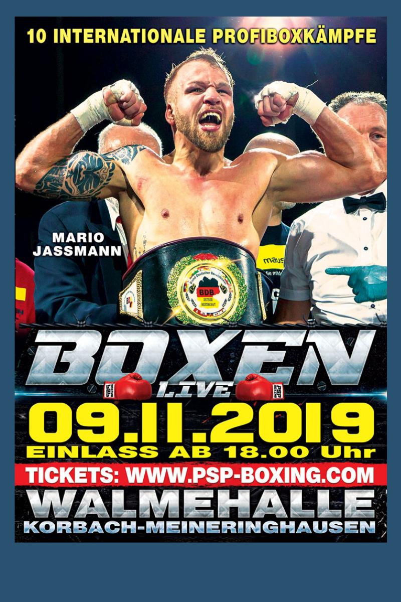 Boxen: Mario Jassmann boxt am 09.11.2019 in der Walmehalle