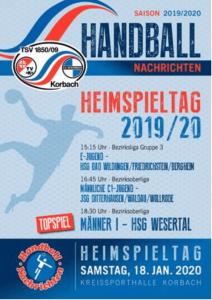 Hallenzeitung der Handballabteilung, 18.01.2020