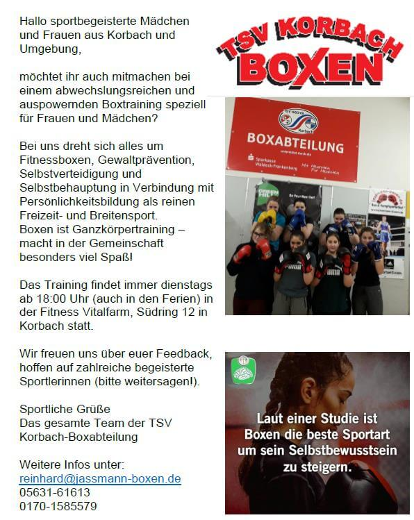 Frauenboxen - TSV Korbach
