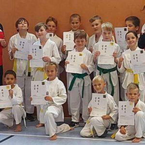 Taekwondosportler des TSV Korbach